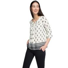 Harga Esprit Flowing All Over Print Carmen Blouse Off White Lengkap