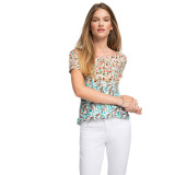 Diskon Esprit Flowing Blouse With Puff Sleeves Turquoise Esprit Indonesia
