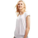 Beli Esprit Flowing Crepe Blouse With Pleats White Cicil