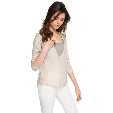 Tips Beli Esprit Flowing Fine Knit Cardigan Cream Beige 2 Yang Bagus