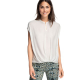 Jual Esprit Flowing Jacquard Blouse Off White Original