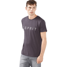 Jual Esprit Jersey Logo T Shirt 100 Cotton Dark Grey Esprit Grosir