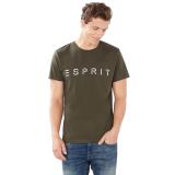 Beli Barang Esprit Jersey Logo T Shirt 100 Cotton Dark Khaki Online