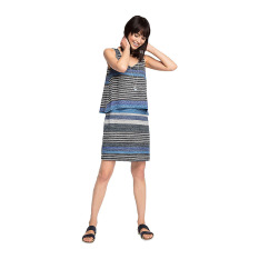 Jual Esprit Layered Effect Stretch Jersey Dress Navy Ori