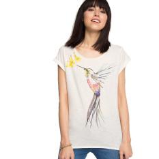 Esprit Motif Print T-Shirt - Off White
