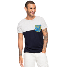 Esprit Patchwork Cotton Jersey T Shirt White Terbaru
