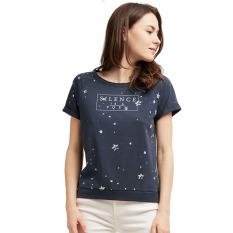 Esprit Printed T-Shirt - Grey Blue