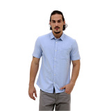 Model Esprit Shirts Woven Short Sleeve Light Blue Terbaru
