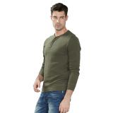 Spesifikasi Esprit Soft Pique Henley 100 Cotton Dark Khaki Baru