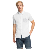 Beli Esprit Stretch Cotton Shirt With A Print Pocket White