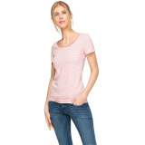 Review Esprit Stretchy Top With All Over Stripes Coral 2 Esprit Di Jawa Barat