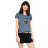 Esprit T Shirt With A Sequin Star Grey Blue Diskon Jawa Barat