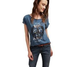 Jual Esprit T Shirt With Sequin Embroidery Dark Blue Esprit