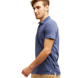 Esprit Vintage Blended Cotton Jersey Polo Shirt Dark Blue Terbaru