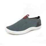Harga Essan Fashion Ringan Pria Sepatu Kausal Bernapas Loafers Dilengkapi Ventilasi Mesh Datar Sepatu Abu Abu Tua Baru