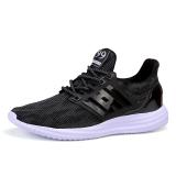 Toko Jual Essan Fashion Pria Kasual Sepatu Datar Dilengkapi Ventilasi Sneakers Hitam