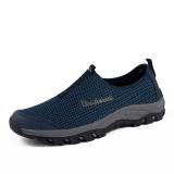 Review Tentang Essan Fashion Sepatu Kasual Pria Sepatu Olahraga Jala Bernapas Biru Tua