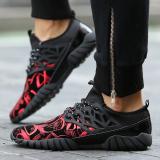 Harga Essan Baru Fashion Pria Kasual Sneakers Pola Black Cool Flats Sepatu Merah Indonesia