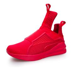 Beli Essan Pria Terbaru Sepatu Jala Bernapas Cut Tinggi Merah Dengan Kartu Kredit