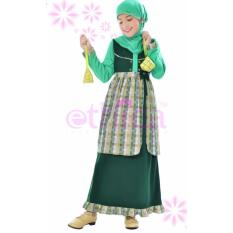 Harga Ethica Moslem Fashion Dress Anak Ork 18 Hijau Terbaik