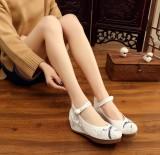 Beli Etnis Angin Bawah Tendon Upgrade Lebih Tebal Plaza Sepatu Dansa Bordir Sepatu Kain Terlalu Gesper Sepatu Wanita Flat Shoes Seken