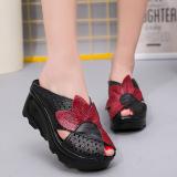 Spesifikasi Etnis Angin Kulit Horizontal Penuh Sepatu Wanita Baru Sandal Hitam Sepatu Wanita Sandal Wanita Other