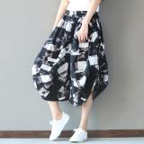Jual Angin Nasional Musim Semi Dan Musim Panas Pinggang Elastis Kulot Celana Perempuan Hitam Baru