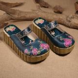 Spesifikasi Sendal Musim Panas Baru Sendal Angin Nasional Sepatu Sol Tebal 1 11 Biru Spot Terlalu Kecil Dan Setengah Yard Paling Bagus