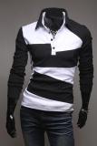 Review Etop Pakaian Modis Lengan Panjang Pria Slim Fit V Leher Kerah Kemeja Sweater Jumper Baju T Shirt Tee Blus Cardig Hitam Internasional Etop