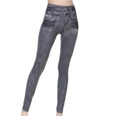 Eropa Amerika Fashion Wanita Pinggul Ramping Lift Caresse Jeans Lady Slim Legging Tetap Fit Membentuk Celana