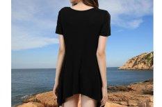 Eropa dan Amerika Serikat Baru Coat EBay Amazon Cepat Menjual Melalui Ledakan Sexy Short Sleeve T-shirt Yang Tidak Beraturan- INTL