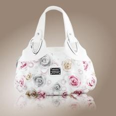 Eropa dan Amerika Serikat Gaya Handbags Tas Grosir Mawar Fashion Tas Wanita-putih-Intl