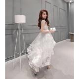 Jual Eropa Benang Akar Wanita Korea Organza Little Pure White Mermaid Pernikahan Bridesmaid Pesta Gaun Intl Oem Asli