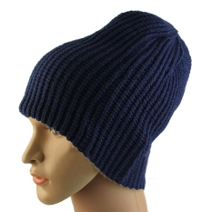 Eropa Unisex Dewasa Pria Wanita Kupluk Rajut Hangat Musim Dingin Ski Slouchy Soft Solid Cap Hat