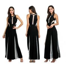 Gaun Malam Perspektif Sexy Lantai-panjang Prom Gaun Elegan Gaun Malam Klub Malam Gaun-hitam-Intl