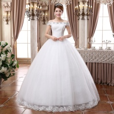 Beli Ever Dresses Off The Shoulder Wedding Dresses For Women Ball Bown Lace Bridal Gown Intl Lengkap