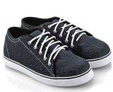 Beli Everflow Ak722 Sepatu Low Cut Sneaker Unisex Denim Rubber Lucu Dan Keren Blue Dengan Kartu Kredit