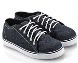 Jual Everflow Ak722 Sepatu Low Cut Sneaker Unisex Denim Rubber Lucu Dan Keren Blue Import