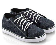 Katalog Everflow Ak722 Sepatu Low Cut Sneaker Unisex Denim Rubber Lucu Dan Keren Blue Terbaru