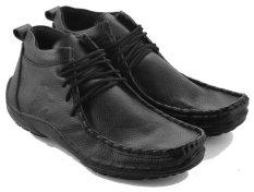 Harga Everflow Dc 2017 Sepatu Pantofel Boots Pria Leather Tpr Gaya Dan Stylish Black Lengkap