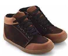 Beli Everflow Dg02 Sepatu High Cut Sneaker Anak Laki Laki Synth Tpr Lucu Dan Keren Brown Everflow