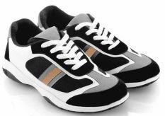 Toko Everflow Dr 02 Sepatu Sport Lari Pria Leather Rubber Sporty Dan Keren Black Comb Termurah Jawa Barat