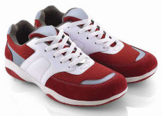 Review Toko Everflow Dr 03 Sepatu Sport Lari Pria Leather Rubber Sporty Dan Keren Red Comb