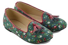 Diskon Produk Everflow Ep012 Flat Shoes Anak Perempuan Canvas Rubber Lucu Dan Keren Green Comb