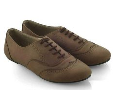 Beli Barang Everflow Er01 Flat Shoes Wanita Synth Lux Fiber Elegan Dan Gaul Brown Online