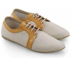 Spesifikasi Everflow Er016 Flat Shoes Wanita Synth Rubber Elegan Dan Gaul Cream Comb Baru