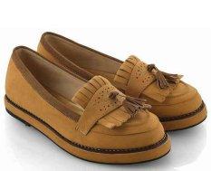 Toko Everflow Ew008 Sepatu Casual Wanita Suede Fiber Elegan Dan Gaul Yellow Terlengkap