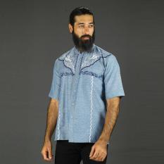 Everflow Fashion Baju Muslim Koko Casual Pria Cotton VGN 05 - Biru