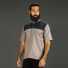 Everflow Fashion Baju Muslim Koko Casual Pria Cotton VGN 23 - Coklat