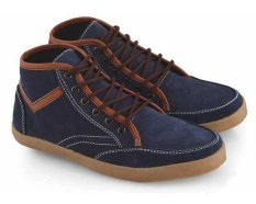 Everflow RE 9002 Sepatu High Cut Sneakers Pria - Suede - Tpr - Gaya Dan Elegan - Blue